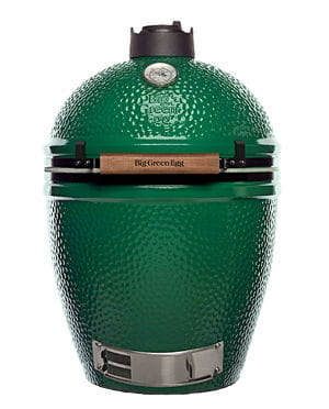 A big green egg isolated on white