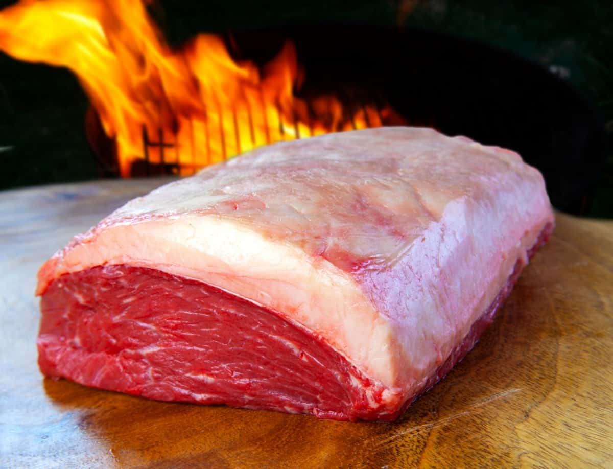 A picanha roasting joint with a very large fat cap