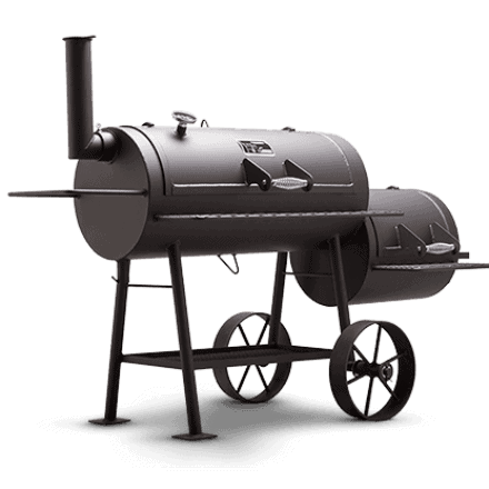 Yoder Smoker Cheyenne offset smoker isolated on white