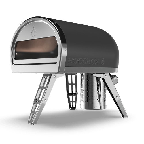 Grey Roccbox portable pizza oven isolated on white