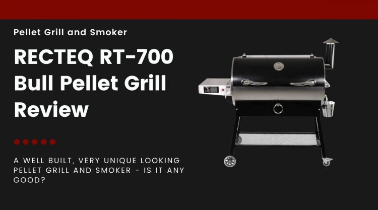 Rec Tec RT-700 grill isolated on black