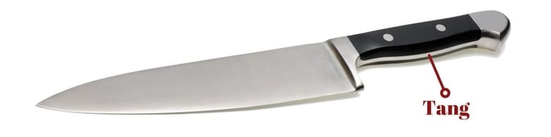 Image showing the tang of a knife