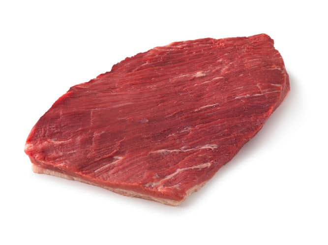 A brisket flat isolated on white