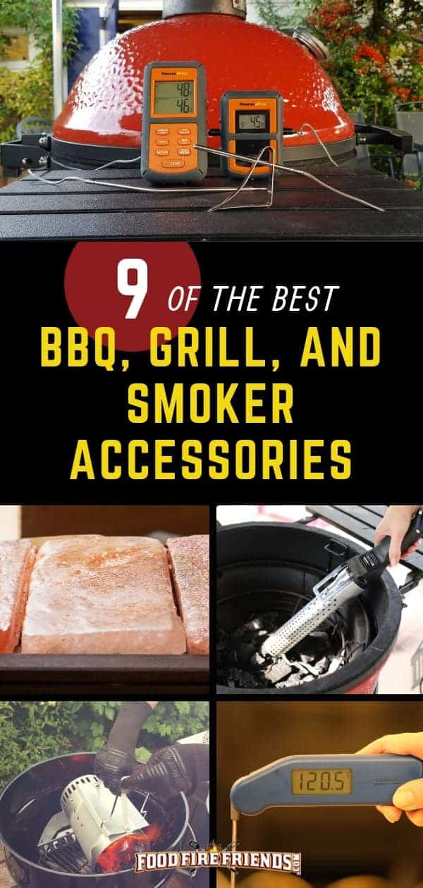 Best BBQ Grill Smoker Accessories written across a photo montage of many such items