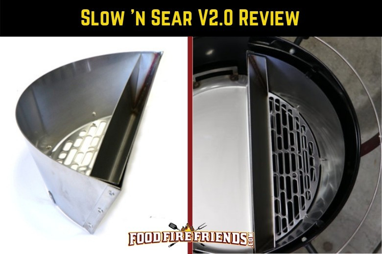 Slow n sear 2 review written above 2 images of the product side by side