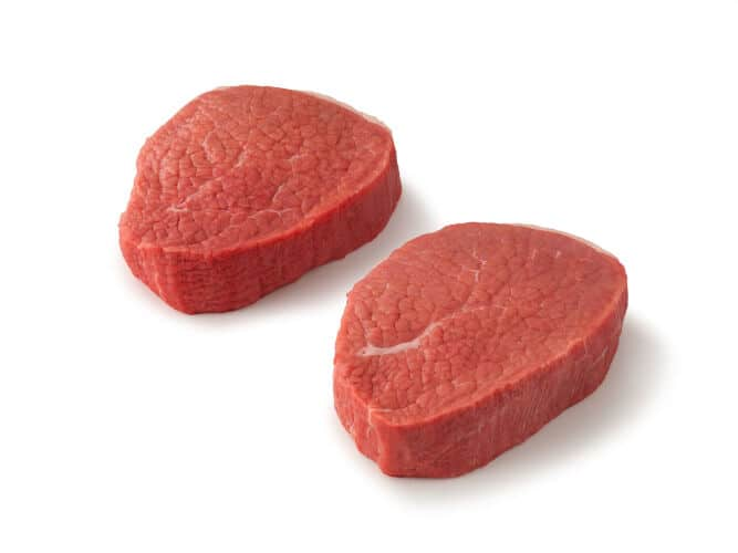 Eye of Round Steak isolated on white