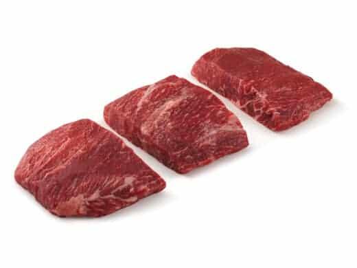 Flat Iron Steak isolated on white