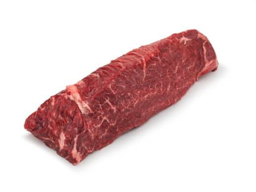 Hanger Steak isolated on white
