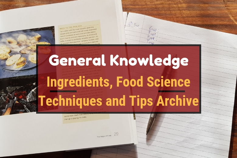 Tips, tricks, how tos and knowledge archive written across an image of a book, a pen and some paper on a chopping board