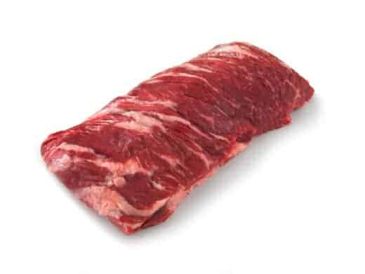 Outside Skirt Steak isolated on white