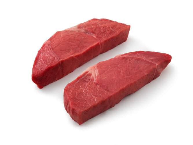 Petite Sirloin Steak isolated on white