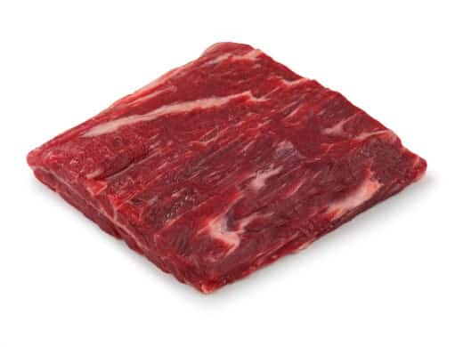 Ribeye Cap Steak isolated on white