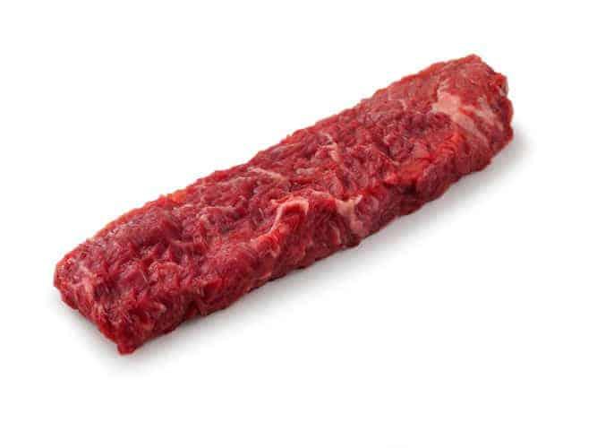 Sirloin Bavette Steak isolated on white