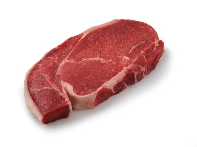 Top Sirloin Steak isolated on white
