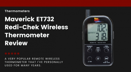 Maverick ET732 thermometer receiver isolated on black