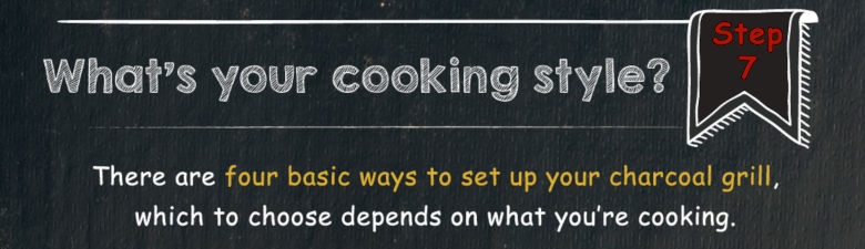 Image with text asking what cooking style you will choose