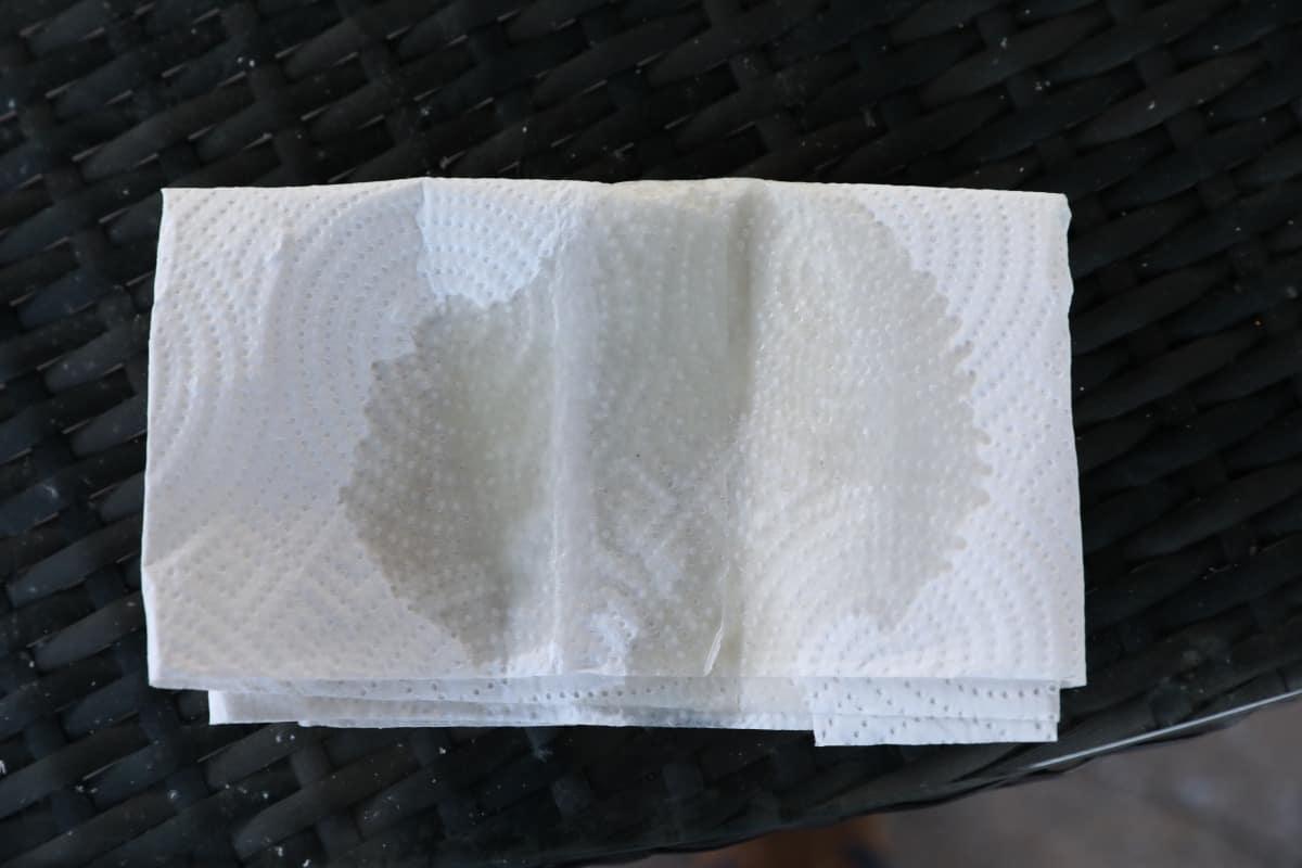 oil on kitchen paper