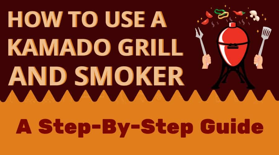 Top part of how to use a kamado infographic
