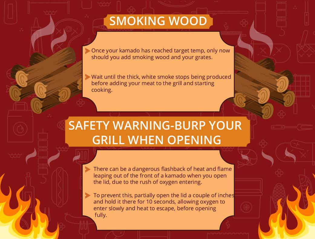 When and how to add wood to your kamado