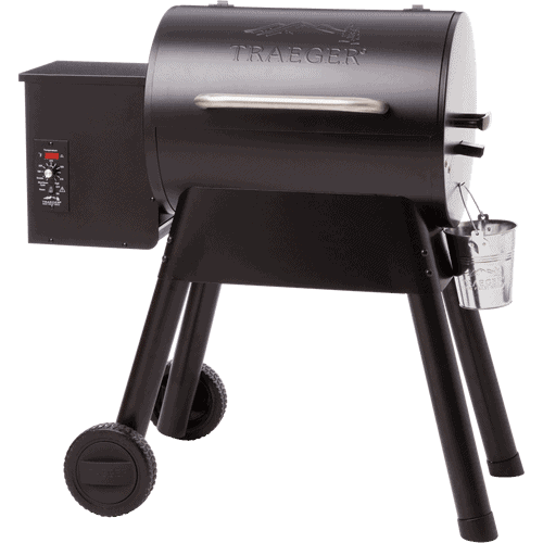 Traeger Bronson pellet grill isolated on white