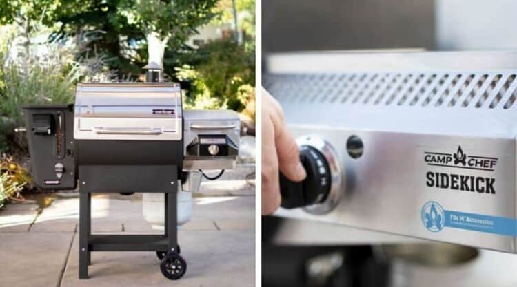 Photos of a camp chef woodwind and a sidekick attachment side by side