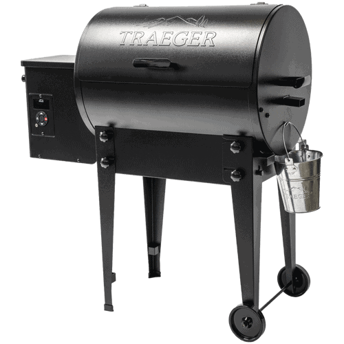 Traeger tailgater pellet grill isolated on white
