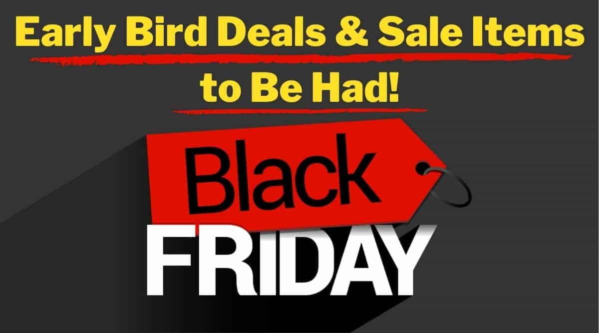 Black friday and cyber monday deals written as a graphic