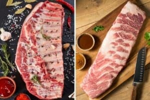 spare ribs vs st louis ribs, one photo each, side by side