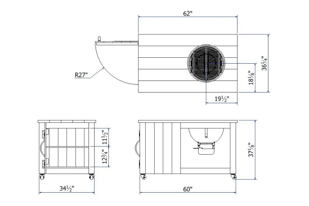 Grill Cart Plans Blueprint and plans