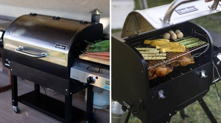 Two camp chef pellet grill photos side by side