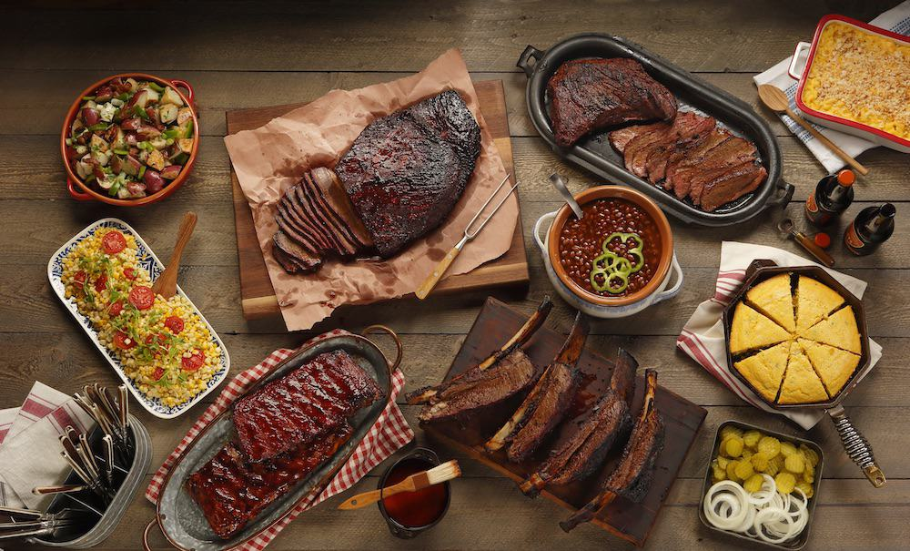 A selection of cooked snake river farms food