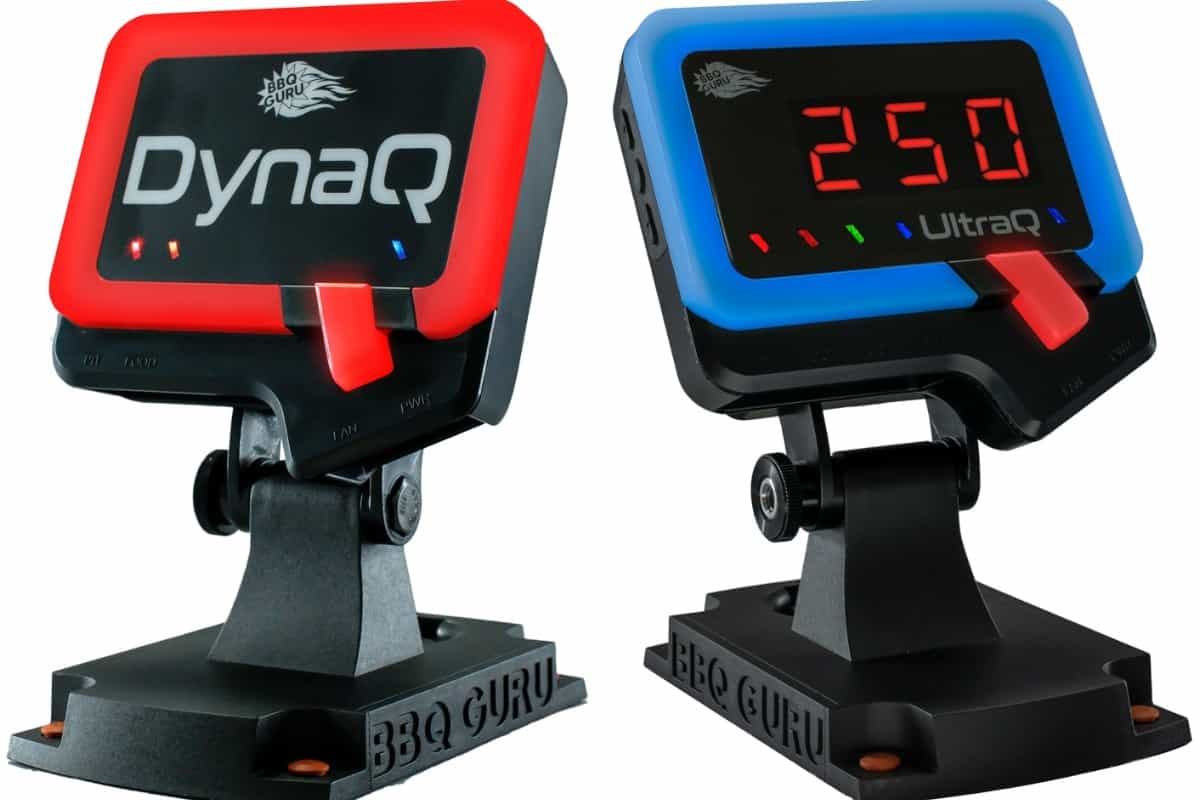 BBQ Guru temperature controllers the DynaQ and UltraQ isolated on white